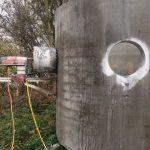 lyukfúrás betonkád